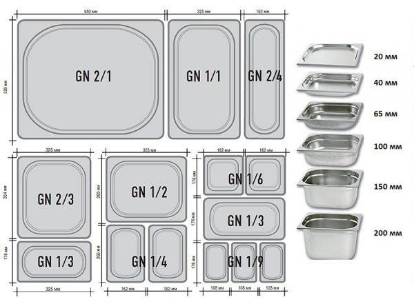 Tava GN 1/4 - 100 mm